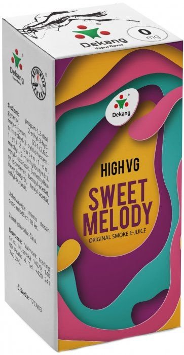 Dekang High VG Sweet Melody 10ml (Broskev s citrónem)