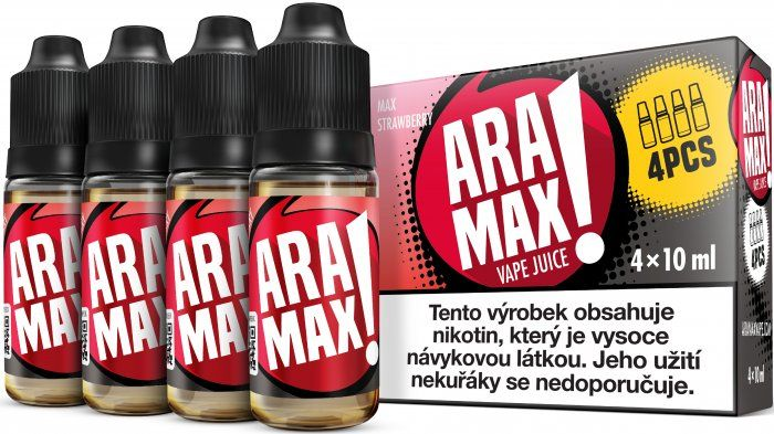Liquid ARAMAX 4Pack Max Strawberry - 4x10ml