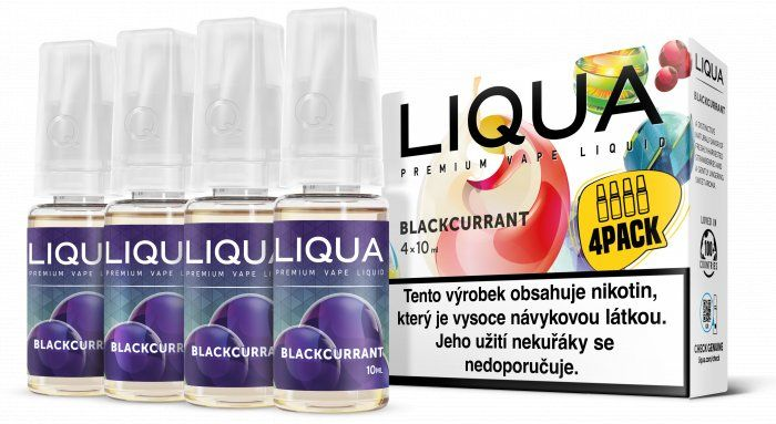 Liquid LIQUA CZ Elements 4Pack Blackcurrant (černý rybíz) - 4x10ml