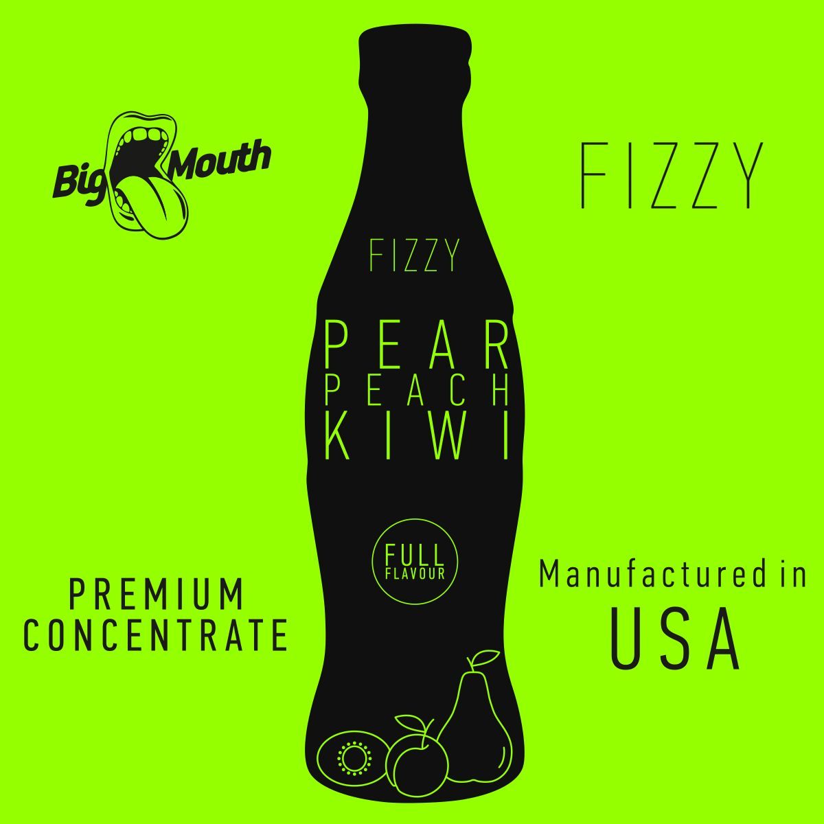 Příchuť Big Mouth FIZZY - Hruška, broskev, kiwi - 10ml