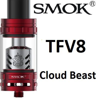 Smoktech TFV8 Cloud Beast clearomizer Red